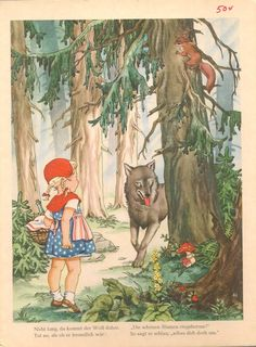 VINTAGE FAIRYTALE book Rotkappchen (Little Red Riding Hood)