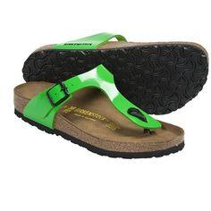 Birkenstock Gizeh Sandals - Birko-flor® (For Women) in Green Patent