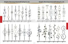 Source modern fence wrought iron balusters design on m.alibaba.com
