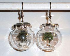 Ohrringe Baum Tier Schaf Damen Ohrschmuck Modeschmuck Glas Hänger Edelstahl