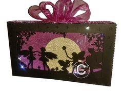 Fairy Fairies in the Wood Make your own Scene In A Box  on Craftsuprint designed by Tina Fallon - Scene In A Box, can be lit with LED tealights and mini LED Rice lightssize as provided is approx 9.5 x 5.5 x 2 inchesso in the above sizes the main front needs to be cut from A3 cardBUT ....can be scaled down smaller and cut from 12x12 or A4 accordingly - Now available for download!
