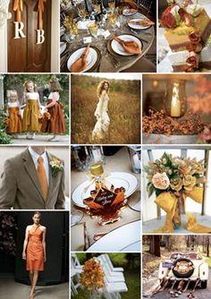 Colori classici con un pizzico di luce al matrimonio d'autunno: Le tendenze dall'estero vedono il matrimonio d'autunno in marrone e oro. Ecco per voi tante idee originali su bouquet, colori e bomboniere.
