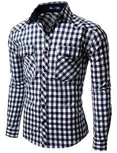 Doublju Mens Gingham Check Shirt BLUE (US-L) Doublju http://www.amazon.com/dp/B007V7OAK6/ref=cm_sw_r_pi_dp_QK.Xub16HXEVV