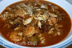 Deep South Dish: Seafood and Okra Gumbo with Shrimp, Crab and Oysters. Very good gumbo. Creole Recipes, Cajun Recipes, Fish Recipes, Seafood Recipes, Soup Recipes, Cooking Recipes, Gumbo Recipes, Snack Recipes, Haitian Recipes
