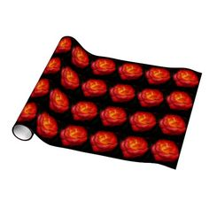 Rose Aflame Gift Wrapping Paper from Florals by Fred #zazzle #gift