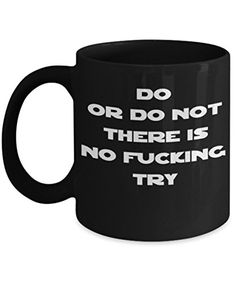 Star Wars Inspired Mug  Humorous Yoda Mugs Great Adult Humor Present For Men And Women Who Like Coffee On The Dark Side  Dishwasher and Microwave Safe Citizens Of The Empire Hand Wash They Do Not >>> Details can be found by clicking on the image.