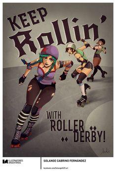 © SOLANGE CABRINO FERNÁNDEZ | Ilustración para la muestra Roller Derby de Ilustradores Argentinos | #rollerderby | Fotos: https://www.facebook.com/media/set/?set=a.725585730870003.1073741832.100296976732218&type=1
