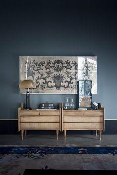 Los colores de la pared y el mueble
