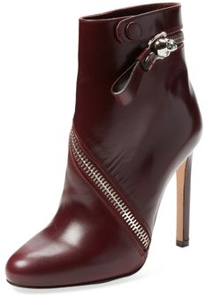 Alexander McQueen Zipper Calfskin Leather Boot…could probably never afford but this is a hot boot!