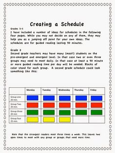 Nothing can give a teacher a headache faster than trying to create a schedule for guided reading. How often? How long? How many kids in each group? Get great tips and see see various schedules for 90 minute blocks on this post.