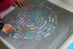 Make a fabric finger labyrinth