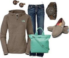 Comfy casual, this is by far my most fave outfit pin today! Love the colors and the pullover especially!