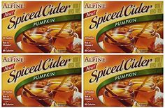 Alpine Pumpkin Spiced Apple Cider Instant Drink Mix 10 Pouches (4 Pack, 40 Pouches Total) ** Visit the image link more details.