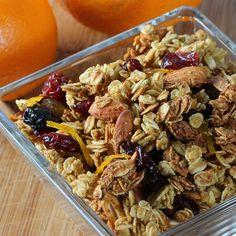 Nearly Sugar free granola  - Orange Vanilla Almond Granola