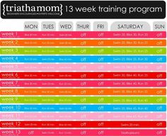 Triamom   sprint triathlon training schedule....I need to get back into this routine!