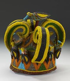 Crown, early 20th c., glass bead and cotton, West Africa region, Gift of Myron Kunin  Minneapolis Institute of Art