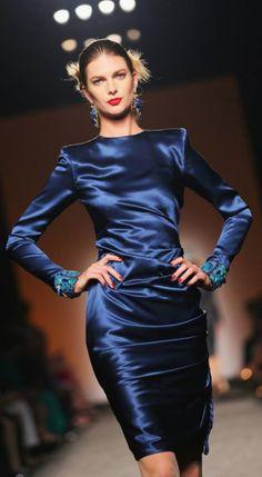 Your Sweet Dream Puff Sleeve Dress - Royal Satin Gown, Satin Skirt, Ruched Dress, Satin Dresses, Silk Satin, Blue Dresses, Dresses With Sleeves, Blue Satin Dress, Blouse Dress