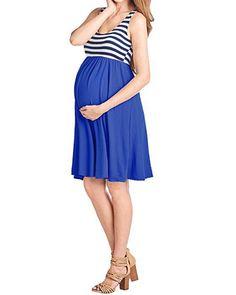 c0ef2d6c63d41 Maternity Fashion - comfortable maternity dresses : VIUVIU Maternity Dresses  for WomenSleeveless Summer Casual Short Midi