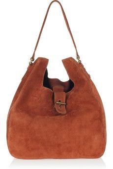 Vanessa Bruno|Suede shoulder bag|NET-A-PORTER.COM - StyleSays