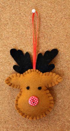 El reno Rodolfo - Rudolph Felt Christmas Decoration