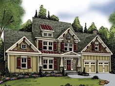 Traditional House Plan with 2351 Square Feet and 3 Bedrooms from Dream Home Source | House Plan Code DHSW62860