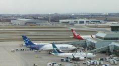 Aerial view of terminal 3 of Toronto Pearson Airport