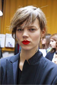 red lips. Freja.