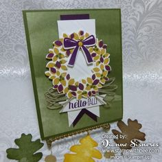 Fall Wreath from Splitcoaststampers Stampers. I was thinking this design for Christmas wreath