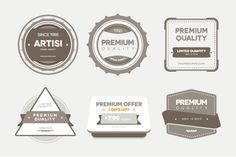 Free Premium Vector/PSD Badges