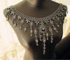 beaded shoulder necklace