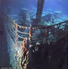 Titanic Underwater Bodies   Tales from beyond the grave: The Titanic lies still and rusting in its ...