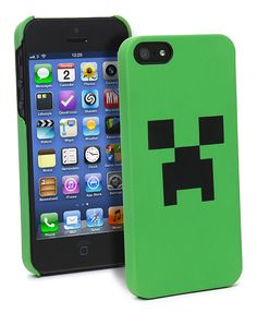 ThinkGeek :: Minecraft Creeper Case For iPhone
