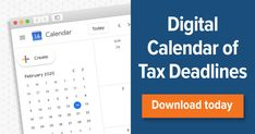 Struggling with tax deadlines? As a business owner, there are a lot of tax deadlines for which you need to track and prepare. Sure, you could painstakingly enter reminders into your smartphone.  But who has time for that?  That's why I made it easy for you: Just add my handy Google Calendar of tax deadlines to your account, allow notifications, and you'll get a reminder two weeks before every deadline. Business Calendar, Calendar 2020, Google Calendar, Smartphone, Track, Ads, Marketing, Digital