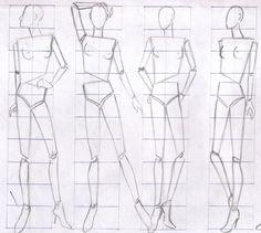 Diferentes canónes en figurines:       Exageración al dibujar las poses :      Diferencia entre un dibujo de figura normal y figura de moda...
