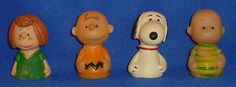 Vintage PEANUTS Finger Puppet Lot SNOOPY CHARLIE BROWN LINUS ETC 1950/1966