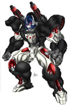 Optimus Primal, Bot mode by RoadbusterDoM on DeviantArt Green Lantern Movie, Venom 2, Beast Machines, Avengers Pictures, Transformers Optimus Prime, Art Drawings Sketches, Geek Culture, Anime Comics, Power Rangers