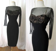 Couture1950's Don Loper Original Cocktail Dress by wearitagain, $495.00