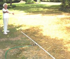 DIY sprinkler system! This took my boyfriend and I less than 15 minutes to set up and only cost $10 for all of the supplies and works much better than store bought sprinklers! Awesome idea!
