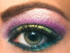 #rainbow #eyeshadow #pretty #makeup