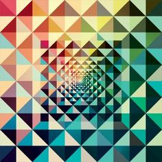 Textures & Patterns / Andy Gilmore – Graphic Design inspiration on . Geometric Graphic Design, Graphic Design Inspiration, Geometric Shapes, Triangle Design, Geometric Quilt, Geometric Poster, Triangle Pattern, Geometric Patterns, Geometric Designs