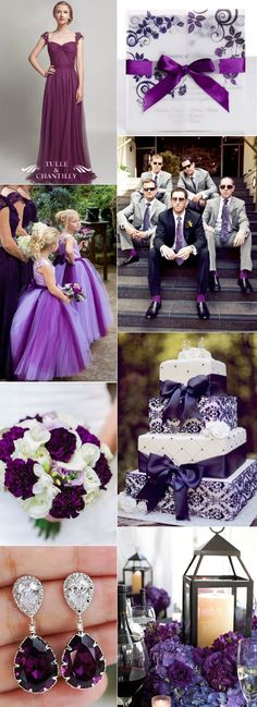elegant plum purple wedding ideas