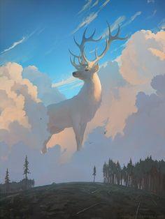 Artem Rhads Chebokha (better known as Rhads) is a digital artist and illustrator based in Saint-Petersburg, Russia. Rhads is a creative digital artist. Art Inspo, Kunst Inspo, Inspiration Art, Art And Illustration, Dessin Old School, Kunst Online, Bild Tattoos, Deer Art, 3d Fantasy