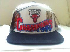 bd42b4df75b 1996 CHICAGO BULLS NBA CHAMPIONS VINTAGE SNAPBACK HAT MICHAEL JORDAN NWT  NEW 90S 1996 Chicago Bulls