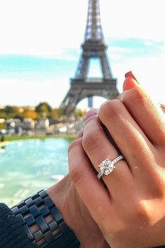 24 Top Round Engagement Rings ❤️ See more: http://www.weddingforward.com/round-engagement-rings/ #wedding