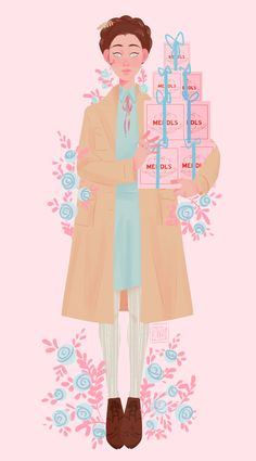 Agatha on Behance Wes Anderson Poster, Wes Anderson Style, Wes Anderson Movies, Illustration Sketches, Character Illustration, Illustrations, Gran Hotel Budapest, Grande Hotel, Aesthetic Drawing