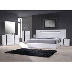 contemporary bedroom furniture chicago.  Furniture The Palermo Bedroom Adds A Bold Contemporary Vibe To Your Sleep Space  White Lacquer With Mirror Accents Featuring Clean Horizontal Lines And Lighted  To Contemporary Furniture Chicago D