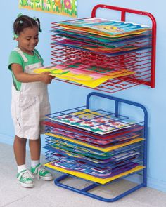 Lakeshore Wall-Mounted Drying Rack  #LakeshoreDreamClassroom