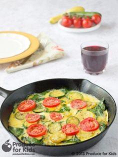 Zucchini Summer Squash Frittata Healthy Breakfast For Kids
