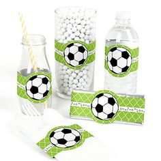 GOAAAL! - Soccer - DIY Party Wrappers - 15 ct | BigDotOfHappiness.com