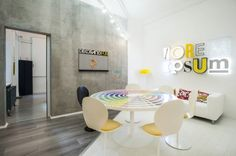 DekoRatio Branding and Design Studio has moved into a new office designed by kissmiklos located in Budapest, Hungary. With my partner studio, the Home Design, Design A Space, Design Studio, Küchen Design, Interior Design, Design Ideas, Design Interiors, White Office, Contemporary Office